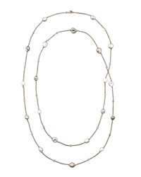 Eli Jewels Gray Keshi Pearl And Sapphire Station Necklace 42 L