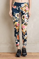 Pure Good Fleur Leggings Blue Motif