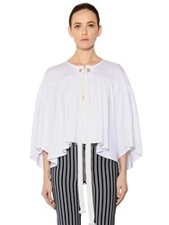 Sonia Rykiel Ruffled Cotton Jersey Blouse