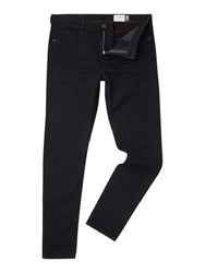 Criminal Skinny Fit Stretch Black Jeans Black