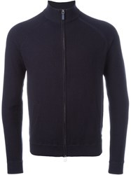 Woolrich Zipped Cardigan Blue
