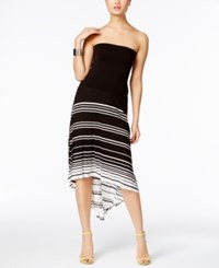 Inc International Concepts Convertible High Low Maxi Skirt Only At Macy's Deep Black White Stripe