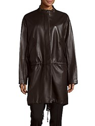 Helmut Lang Leather Long Sleeve Jacket Dark Canopy
