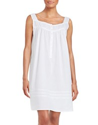 Eileen West Plus Cotton Chemise White