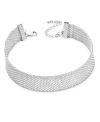 Inc International Concepts Mesh Choker Necklace Only At Macy's Silver