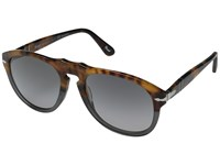 Persol 0Po0649 Dark Grey Tortoise Grey Gradient Polarized Fashion Sunglasses Brown
