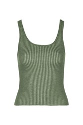 Topshop Super Soft Scoop Vest Khaki