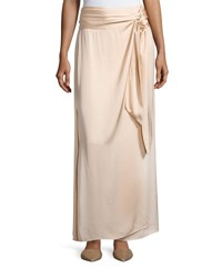 Elizabeth And James Almeria Wrap Tie Maxi Skirt W Slit Blush