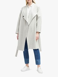 French Connection Drop Shoulder Wrap Coat Dove Grey