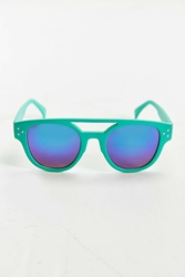 Urban Outfitters Turquoise Brow Bar Round Sunglasses