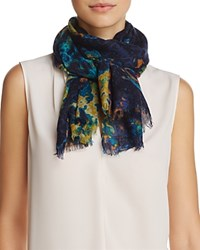 Aqua Distressed Gradient Scarf 100 Exclusive Moonlight