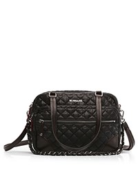 M Z Wallace Mz Crosby Medium Nylon Crossbody Black Silver