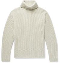 Tom Ford Ribbed Cashmere Rollneck Sweater Stone