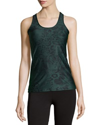 Babakul Animal Print Scoop Neck Racerback Tank Rio Jungle