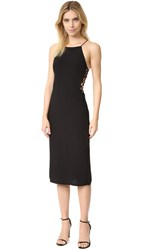 Bec And Bridge Ida Lace Side Dress Black