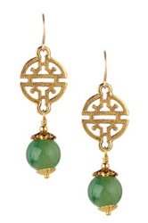 Mariechavez Green Jade And Cutout Station Earrings