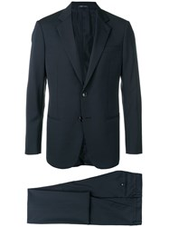 Giorgio Armani Slim Fit Two Piece Suit Blue