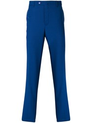 Billionaire Straight Leg Trousers Virgin Wool Blue