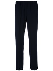 Alberto Biani Drawstring Cropped Trousers Blue