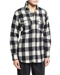 Ralph Lauren Buffalo Check Flannel Shirt Black Black Patterned