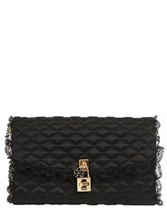 Dolce And Gabbana Lace Quilted Satin Clutch