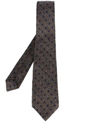 Kiton Polka Dots Tie Brown