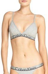 Calvin Klein Women's Triangle Bralette Grey Heather