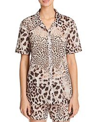 Natori Animal Print Short Pajama Set Natural