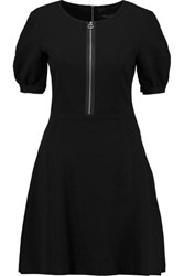 Marc By Marc Jacobs Fluted Crepe Mini Dress Black
