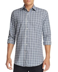 Bloomingdale's The Men's Store At Plaid Classic Fit Button Down Shirt Navy Blue