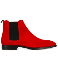 Paul Smith Ps By Chelsea Boots Red