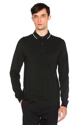 Fred Perry Long Sleeve Twin Tipped Polo Black