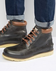 Original Penguin Boots In Black Leather Black