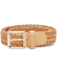 Andersons Anderson's Woven Leather Belt Neutrals