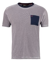 Merc Clifton Print Tshirt Navy Blue