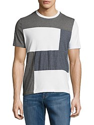 Saks Fifth Avenue Colorblock Cotton Tee Grey White