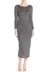 Women's French Connection 'Bianca' Metallic Knit Sweater Dress