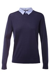 Tommy Hilfiger Elga Oxford Detail Sweater Navy