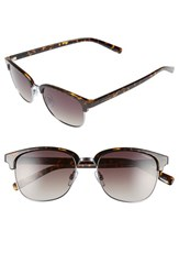 Women's Polaroid Eyewear 55Mm Polarized Sunglasses Ruthenium Brown Polarized