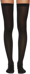 Wolford Black Fatal 80 Seamless Stay Up Stockings
