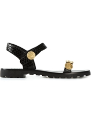 Kenzo 'Coin' Sandals Black
