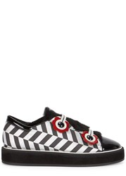 Nicholas Kirkwood Polly Neige Shearling Trimmed Trainers Black