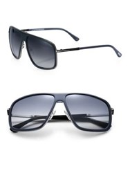 Tom Ford Quentin 60Mm Navigator Sunglasses Navy