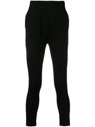 Label Under Construction Embroidered Slim Trousers Black