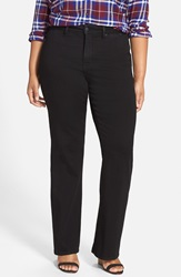 Nydj 'Isabella' Stretch Trouser Jeans Black Plus Size