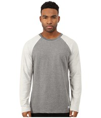 Akomplice Button Rag Crew Grey Men's Sweatshirt Gray