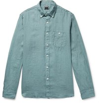 Todd Snyder Linen Shirt Gray Green