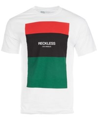 Young And Reckless Colorblocked Graphic T Shirt White