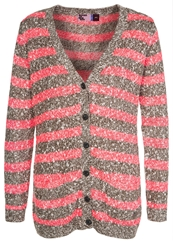 Moods Of Norway Lise Trine Cardigan Neon Pink Berry