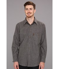 Pendleton L S Trail Shirt W Elbow Patch Grey Mix Solid Men's Long Sleeve Button Up Gray
